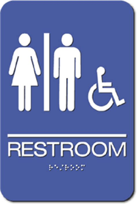 bathroom signages ada unisex wheelchair accessible bathroom sign 6 quot x 9