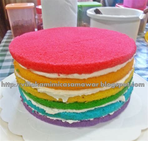 Kek Rainbow Cheese Villakamimicasamawar Kek Pelangi A K A Rainbow Cake