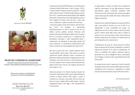 commercio alimentare convegno reati nel commercio alimentare con relazione