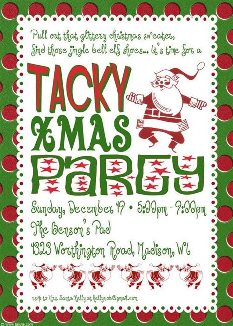christmas party poems tacky invitation poem idea grab all your peppermint sticks we it s not