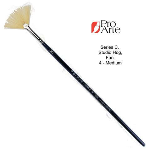 fan brush painting pro arte series c fan brushes acrylic paint brush hog