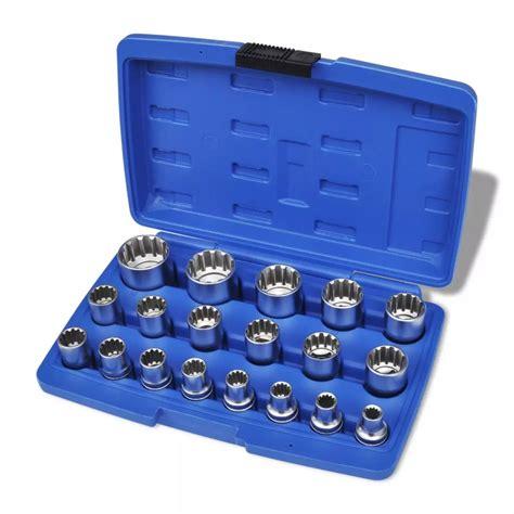 socket set organizer sale vidaxl co uk spline socket set 19 pcs with storage