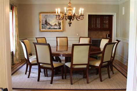 Round Dining Room Tables For 12 Extra Large 88 Round Mahogany Dining Table With Perimeter
