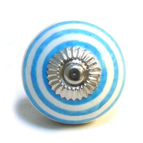 blue white ceramic cupboard drawer door knobs by pushka