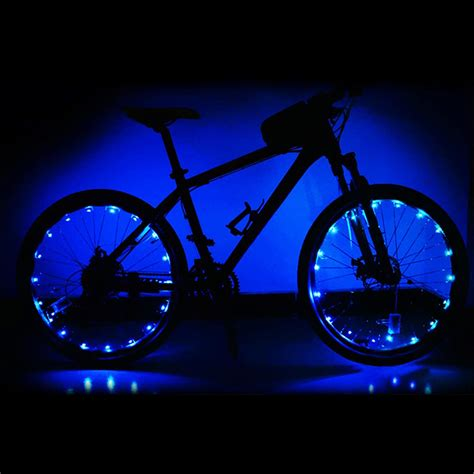 lights on wheels of a bicycle led bicycle bike cycling lights auto open