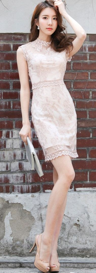 dress model korea luxe asian design korean model fashion style dress