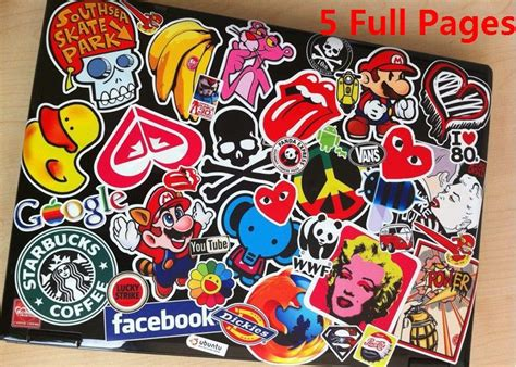 Coole Longboard Aufkleber by 3m Sticker 5 Full Pages Bag Custom Selectable Full Page