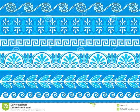 greek pattern brush decorative greek borders stock vector illustration of