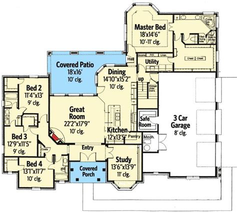 home plans with safe rooms plan 48445fm secluded master suite and a safe room