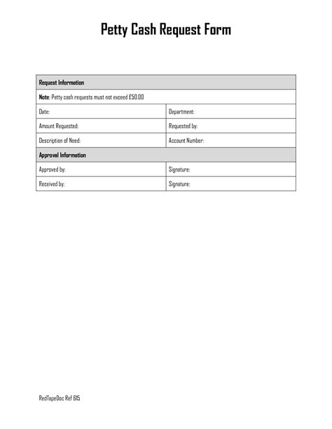 petty request form best photos of petty replenishment form template