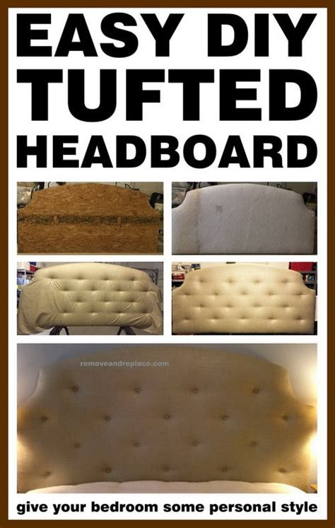 Do It Yourself Tufted Headboard Diy Project Easy Diy Tufted Headboard