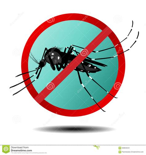 anti mosquito sign flat icon stock vector image 68984044