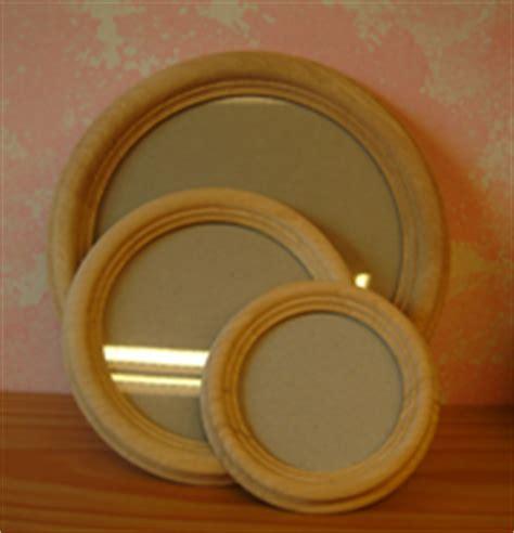 cornici rotonde rotonde legno grezzo