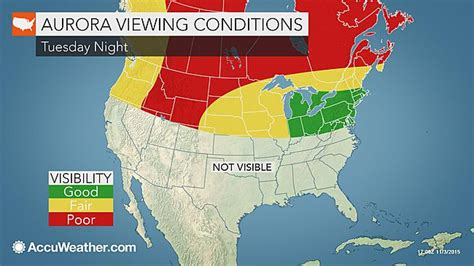 northern lights may glow northeast midwest this week
