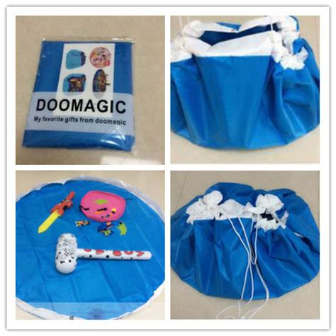 Drawstring Bag Tapis portable folding drawstring toys organizer blanket