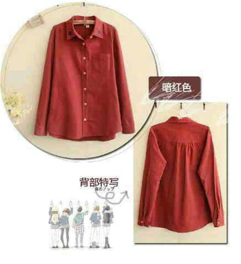 Kemeja Wanita Baju Atasan baju atasan kemeja wanita polos maroon terbaru murah