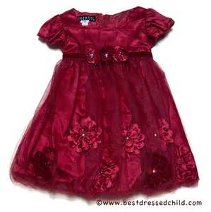 Biscotti infant toddler girls pocket of posies red christmas dress