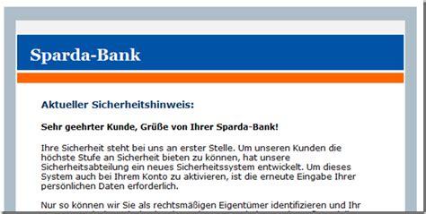e mail sparda bank phishing mit dem namen sparda bank mimikama