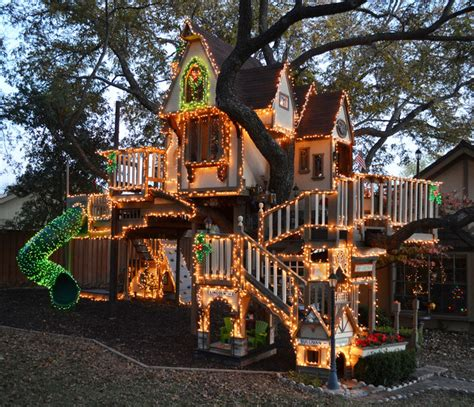 dallas tx christmas lights tree house eclectic kids