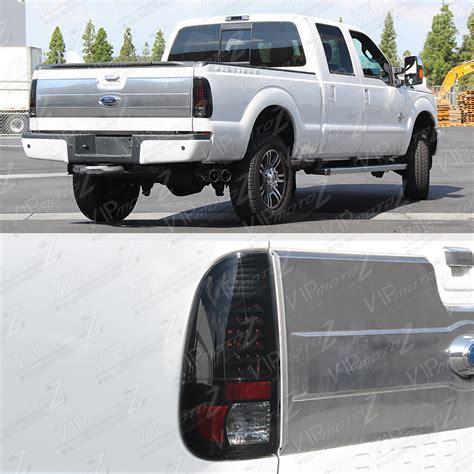 2008 f250 tail lights quot sinister black quot 2008 2016 ford f250 f350 led rear brake