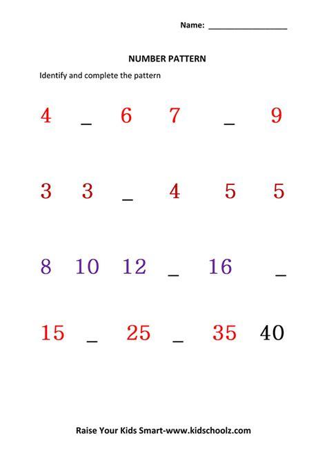 Ukg Worksheets by Identify Missing Number Worksheets Ukg Kidschoolz