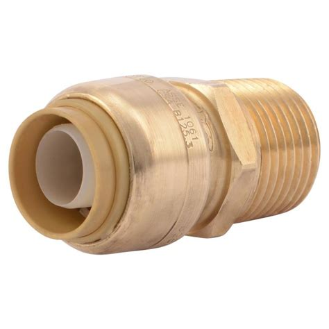 Shark Plumbing Fittings Reviews by Shop Sharkbite 1 2 In Dia Adapter Push Fitting At