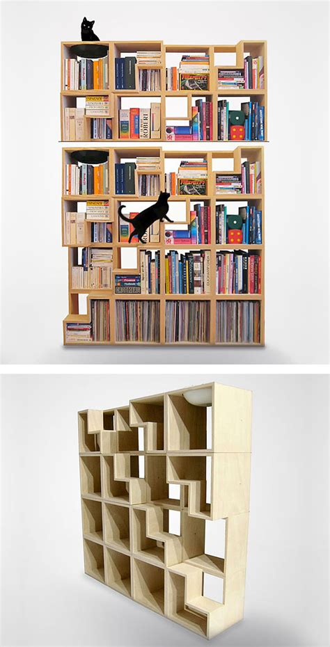 cat friendly bookcase bored panda