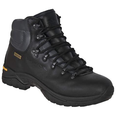 trespass mens walker waterproof leather walking boots ebay