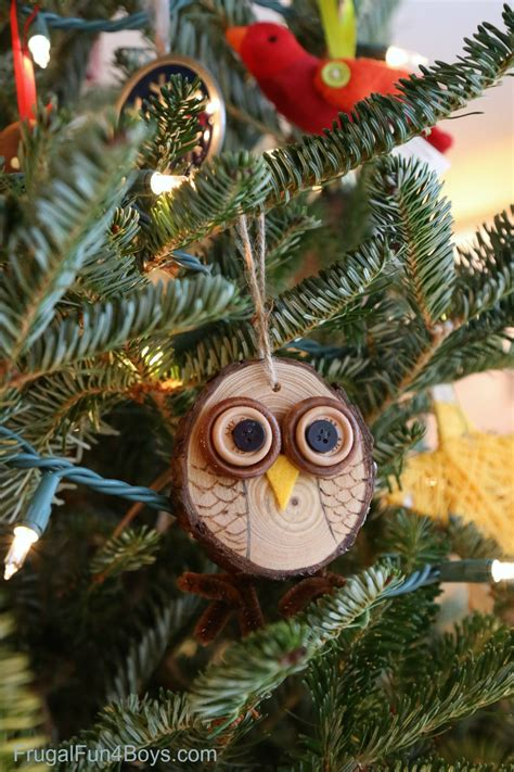 owl tree ornaments how to make adorable wood slice owl ornaments and an owl