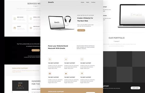 material design wysiwyg editor 100 responsive creative mailchimp email templates