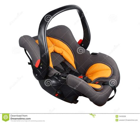 orange and black infant car seat baby car seat royalty free stock image image 18432206