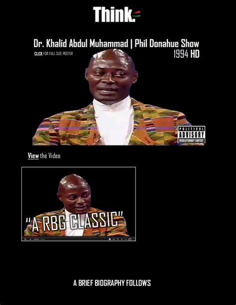 biography of khalid muhammad dr khalid abdul muhammad phil donahue show classio and a