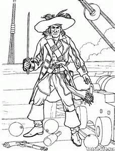 Coloriage  Pirate Dans Une Bataille sketch template
