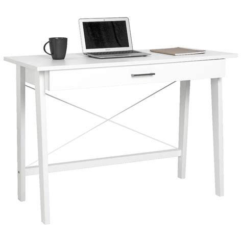 merlot single drawer desk white officeworks