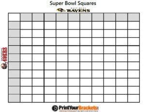 betting squares pool super bowl party game stylish spoon