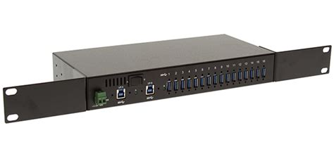Rack Mount Usb Drive by 16 Port Usb 3 0 Metal Hub W Surge Protection Rack Din