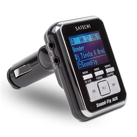 Car Fm Transmitters With Lcd 18 Inch soundfly aux mp3 player car fm transmitter for sd card