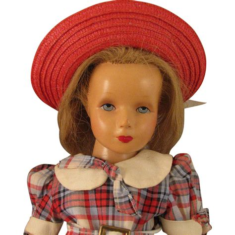 1940s composition doll 1940s studios 17 inch composition doll with rooted