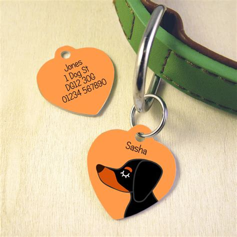 puppy name tags personalised pet name tag by hoobynoo notonthehighstreet