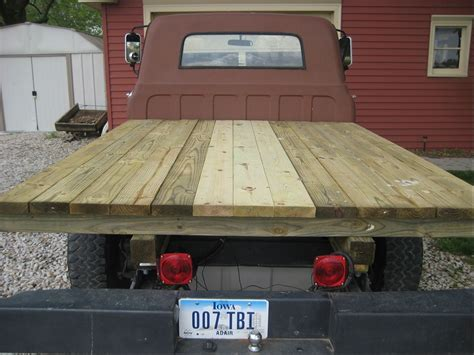 diy wood truck bed build plans how to build a wooden flatbed for a pickup