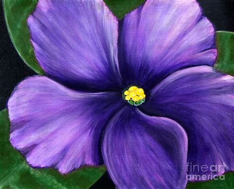 violet purple acrylic paintings of violets violet painting by barbara