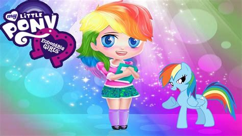 rainbow hairstyles games my little pony hairstyles equestria girls rainbow dash
