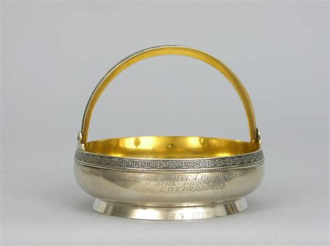 bowl swing russian silver sugar bowl with swing handle ca 1966 05