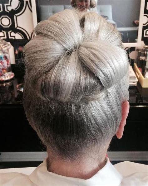Easy Messy Buns For Older Women | 40 contemporary and stylish long hairstyles for older women