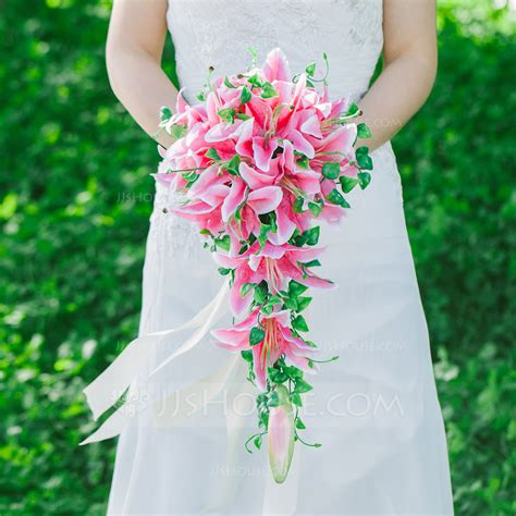 Simple Bridesmaid Flowers by Simple And Cascade Satin Bridal Bouquets
