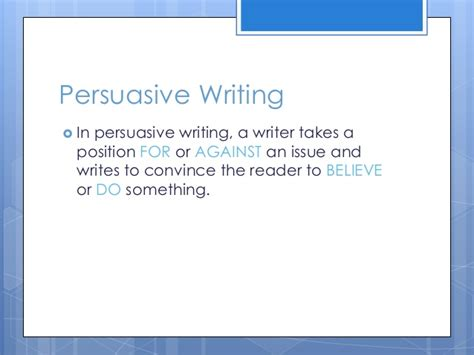 persuasive writing lesson powerpoint