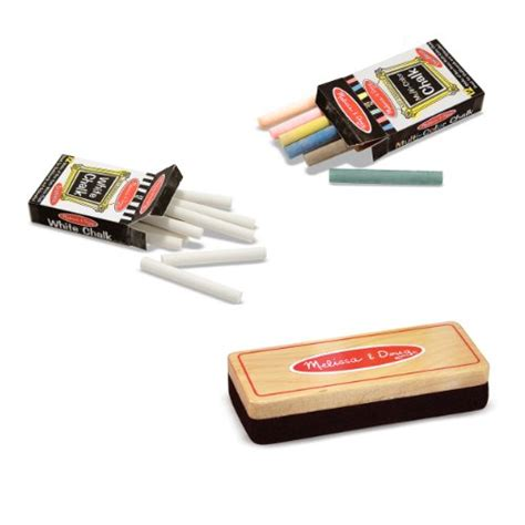 chalk paint eraser doug eraser and chalk set with 24 chalk sticks