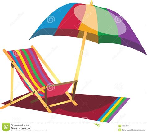 Surf The Web With The Umbrella by Lazy Chair With Umbrella Stock Vector Illustration