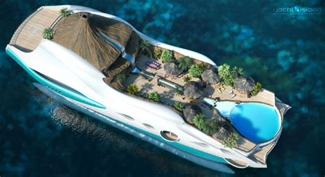 yacht island design tropical island paradise mega yacht by yacht island design tuvie