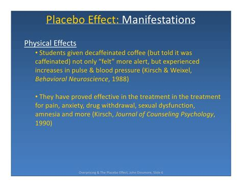 Placebo Effect Detox by Price Perception The Placebo Effect In Marketing